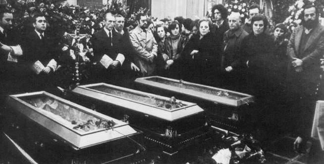 Nuestros mártires en la Transición. 39 Aniversario de la matanza de Atocha