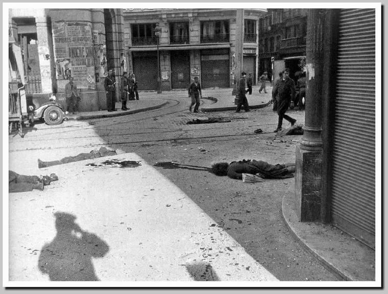 Fotografia Tomada En La Red De San Luis De Madrid En 1937 Tras El