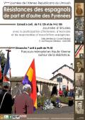 """Prochaines journées de l'Ateneo: """"Résistances des espagnols de part el d'autre des Pyrénées"""""""
