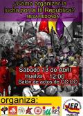 Actos conmemorativos del 82º aniversario de la II República en Huelva