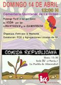 Homenaje en la fosa común del cementerio de Quintanar de la Orden