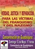 II Homenaje a las víctimas del franquismo y del nazismo en Guadalajara