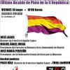 Homenaje a Francisco Aguilar Lagos, último alcalde republicano de Pinto (Madrid)