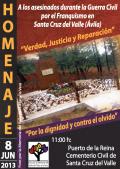 Homenaje a los asesinados por el franquismo en Santa Cruz del Valle (Ávila)