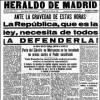 75 años después de su incautación por los falangistas, el Heraldo de Madrid vuelve al quiosco