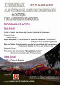 X Homenaje a las víctimas del Campo de Concentración de Castuera y la represión franquista