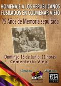 Homenaje a los republicanos fusilados en Colmenar Viejo (Madrid)