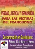 """Concentración """"Verdad, Justicia y Reparación para las Víctimas del franquismo"""""""
