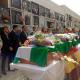 Los cinco fusilados encontrados en la fosa común de Encinasola (Huelva) reciben sepultura