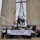 Concentración de la ultraderecha contra la retirada del monumento Onésimo Redondo en Valladolid