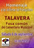 Acto de Homenaje a las víctimas del franquismo de Talavera