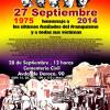 Madrid: Acto Homenaje a los últimos fusilados del franquismo