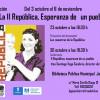 """Exposición: """"La II República, Esperanza de un pueblo"""". Del 3 octubre al 6 de noviembre"""