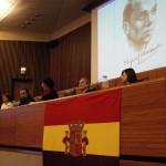0003 Paloma Leon presidenta del Ateneo Republicano, presenta el acto.