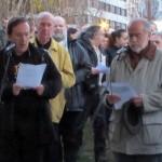 coruña Pedro Garcia, da Fed de Foros por la Memoria participa na lectura de nomes