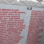 coruña lista alfabetica dos asasinados na Coruña