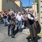 La marcha recorre los lugares de memoria de San Lorenzo