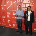 Jose Maria Pedreno y Emilio Silva posan en el photocall
