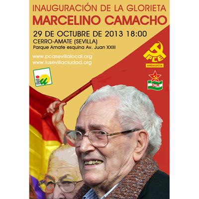 Cartel acto Marcelino Camacho