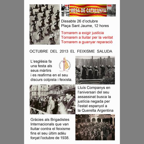 Cartell Mesa Catalunya octubre 26-10-2013