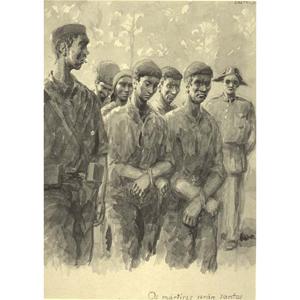 """Castelao. Galicia martir. """"Os martires serán santos"""""""