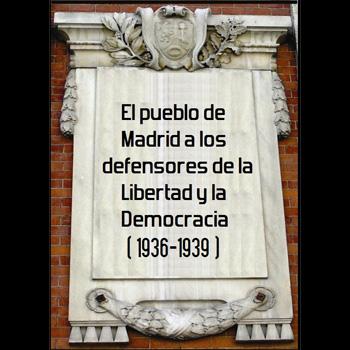 placa homenaje defensa de Madrid