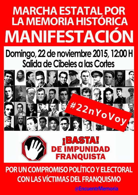 [Madrid] #22nYoVoy. Manifestación estatal por la Memoria histórica
